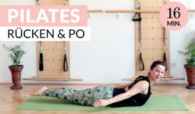 16 min Pilates für Rücken und Po